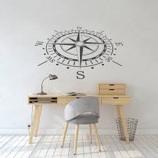 compass rose wall decal nautical wall