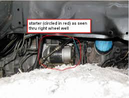 where is the starter on an 1989 toyota pickup 4x4 5spd man graphic