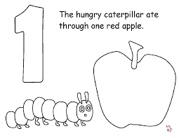 Very Hungry Caterpillar Coloring Page The Very Hungry Caterpillar