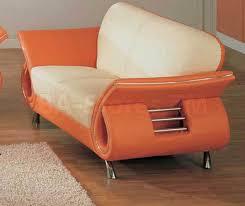 Unique Loveseats Sale 79000 Unique Loveseat In Beige And Orange Leather