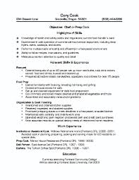 Sample Culinary Resume Objective Student Cover Letter Templates