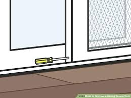 replace sliding screen door how to replace a sliding screen door image titled remove a sliding