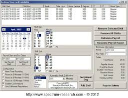 Timecard Calculation Time Card Calculator Software