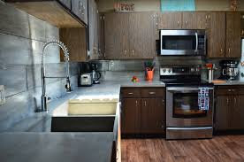 Stained Concrete Kitchen Floor Mode Concrete Modern Contemporary Concrete Kitchen With Waterfall