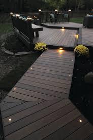 Flush Mount Deck Lights Solar Deck Spend Your Time On Your Deck With Brilliant Trex Deck