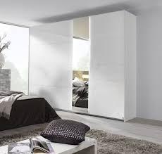 rauch miramar 2 door glass 1 mirror sliding wardrobe in alpine white w 270cm