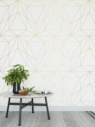 Gold geometric wallpaper ...