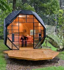 view in gallery futuristic backyard sheds offices studios polyhedral couch pod backyard office pod cuts