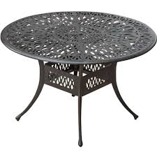 outdoor dining table round. rosedown 48-inch round cast aluminum patio dining table outdoor