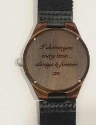 Engraved wooden watch valentines day gift personalized watch mens Gorgeous Watch Engraving Quotes