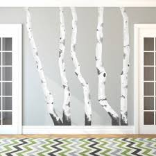 birch trees printed wall decal on birch tree branch wall art with kids nursery wall decals
