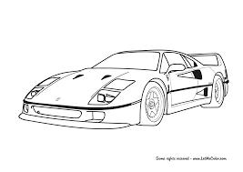 Cars Coloring Page Ferrari Laferrari F150 Letmecolorcom
