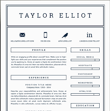 One Page Resume Template Magnificent One Page Resume Template Resume Pages Template 60 One Page Resume