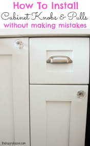 How to Install Cabinet Knobs with a Template {a trick for avoiding ... How  to install cabinet knobs and pulls the first time perfectly without making  any ...