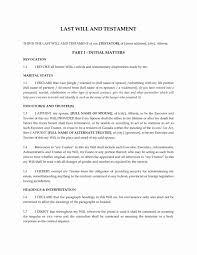 Last Will And Testament Form Alberta Codicil To Template New