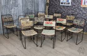 industrial cafe furniture. hessian sack chair industrial cafe furniture c