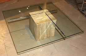 marble base glass top coffee table remarkable marble top round coffee