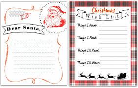Free Printable Letter To Santa Christmas Wish List Hip2save