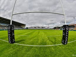 synthetic sisturf grass artificial pitch field newcastle falcons rugby posts