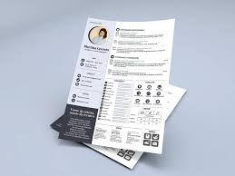 Free Infographic Resume Template Made With Adobe Indesign By James