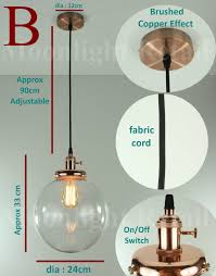 new modern vintage industrial retro loft ball glass shade pendant light copper