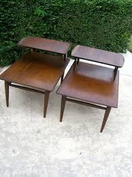 vintage mid century modern end tables danish modern eames style