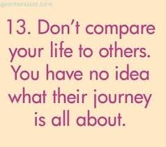 Never Compare Yourself To Others Quote