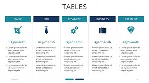 tables powerpoint template