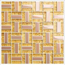 yellow crystal glass tiles metal tile rose stainless steel mosaic kitchen backsplash wall tiles kitchen klgt401