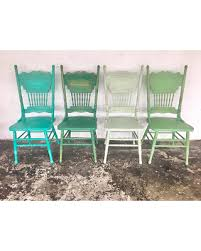 wooden farmhouse chairs. Unique Chairs Vintage Farmhouse Chairs Solid Wood Painted Different Green And Distressed  Rustic Dining Set 4 In Wooden Farmhouse Chairs S