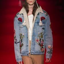 gucci denim jacket. f/w 16 embroidered denim jacket - gucci (as worn by kanye west and others) | looklive