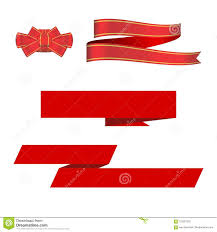 Red Ribbon Design Red Ribbon Bow And Ribbon Banners Vector Design Elements