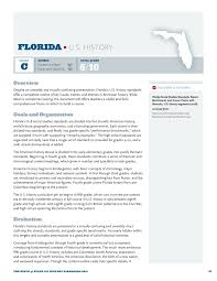 Standards Of Review Chart Review Of Floridas Social Studies Standards For History