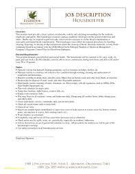 Housekeeping Resume Examples Fresh 22 Housekeeping Job Description
