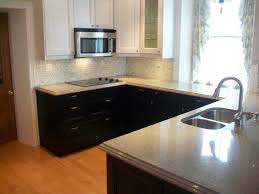 Kitchen Counter And Backsplash Ideas Adorable Kitchen Chic Small U Shape Kitchen Design Ideas Using Black Wood