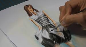 fashion drawing painting a black and white dress watercolor technique you