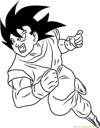 dragon ball z coloring page free pages best of