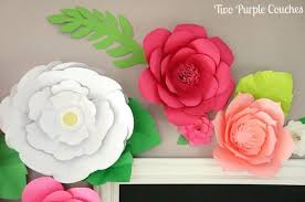 Paper Flower Print Out Giant Paper Flower Template Giant Paper Flower Templates To Print