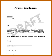 how to write a rent increase notice 6 7 rent increase template resumesheets