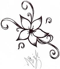 easy flower to draw