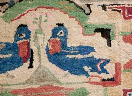 this hand hooked rug was found in lancaster county pennsylvania and has such great