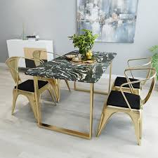 northern europe marble dining table cafe tea simple dining tables and chairs set small