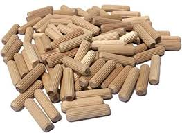 100 pack 3 8 x 1 1 2 wooden dowel pins wood