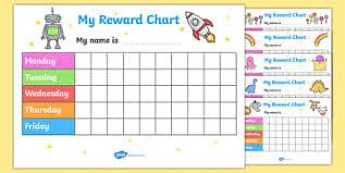 Reward Sticker Charts For Kids Twinkl