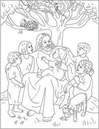 Small Picture Let the Little Children Come to Me Free Coloring Pages Bible