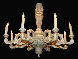 antique french painted wooden chandelier latique antiques with regard to awesome residence painted wood chandelier designs