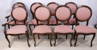 oval back dining chair. SOLD - Set Of Eight Mahogany Oval Back Upholstered French Style Dining Chairs Chair