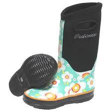 Oakiwear Rain Boots Size Chart Childrens Neoprene Daisy Rain Boots