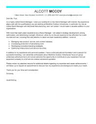 Marketing Cover Letter Sample Leading Professional Brand Manager Cover Letter Examples