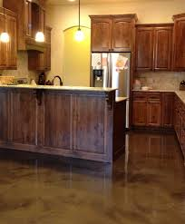 Concrete Floors In Kitchen Hawkeye Custom Concrete Repairing Damaged Acid Stained Concrete